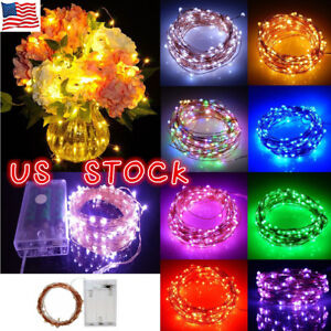 20-50-100-LED-String-Battery-Operated-Copper-String-Wire-Fairy-Lights-Xmas-Party