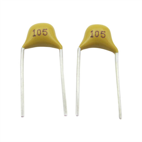1000PCS 1uF 105 50V Monolithic Ceramic Chip Capacitor 5.08MM NEW
