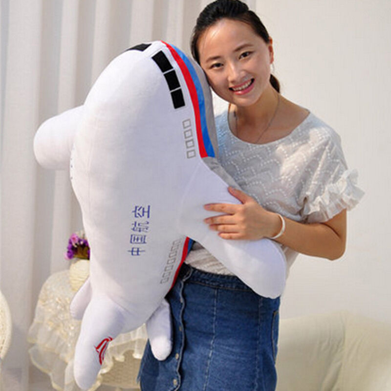 95Cm Large Soft Simulated Cartoon Airplane Toy 37'' Big Stuffed Aircraft Gifts