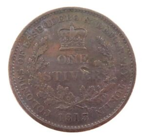 1813-NICE-HIGH-GRADE-ESSEQUIBO-amp-DEMERARY-BRITISH-GUYANA-ONE-STIVER-TOKEN