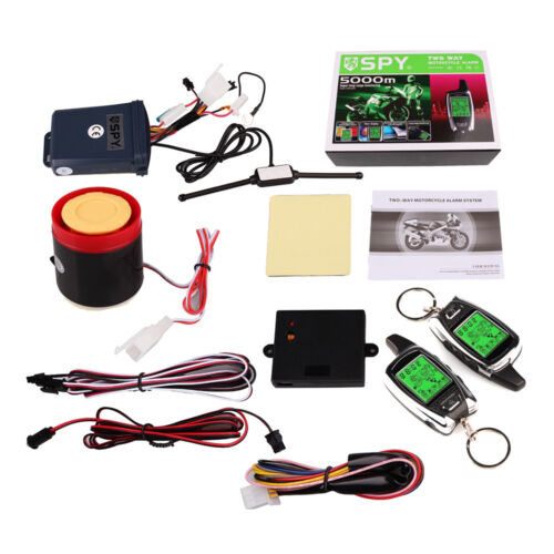 2Way SPY Motorcycle Engine Start Remote Control Microwave Alarm System Security