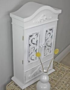 Armadio-da-Parete-antico-bianco-legno-NUOVO-MENSOLA-CASA-DI-CAMPAGNA-ROSALI