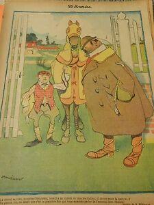 Aux-courses-Le-Cheval-va-bien-il-a-un-appetit-de-diable-Humour-Print-1904