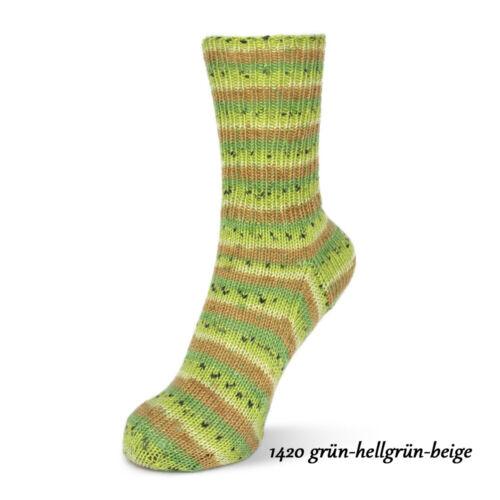 Wollpaket Sockenwolle *Rellana Flotte Socke Wool Free Bamboo je 1 Farbe 6x100g