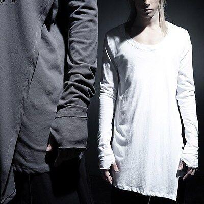 BytheR Men's Fashion Wrap Layered Warmer T-shirts Cotton One Size  P000BERX  AU