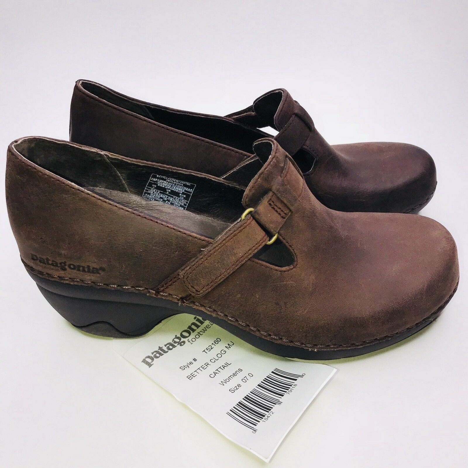 Patagonia BETTER CLOGS CLOGS CLOGS Sz 7M Brown Leather Women's shoes ULTRA SOFT & COMFY New 7706d6