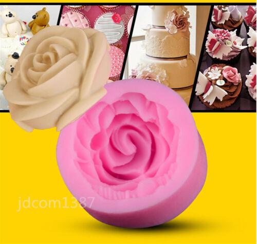 3D Rose Cutter Sugarcraft Fondant gâteau décoration cuisson outils Maker Mold Mould