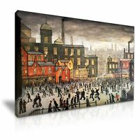 L.S. Lowry Our Town Canvas Wall Art Picture Print 76x50cm