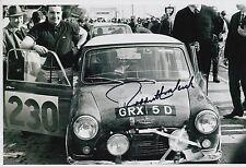 Paddy Hopkirk Hand Signed 12x8 Photo Mini Cooper Rally 5.