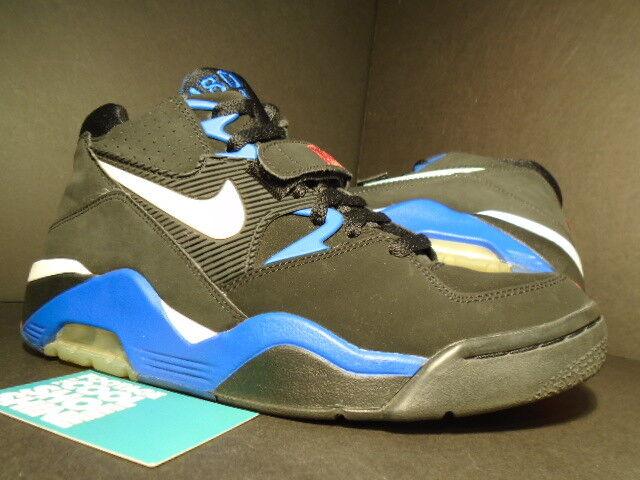 2005 Nike Air Obliger 180 LE MID CHARLES BARKLEY noir rouge blanc ROYAL Bleu 7Y 7