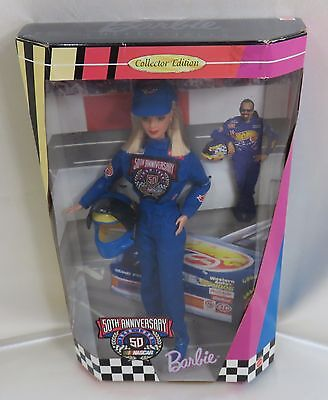 Barbie Doll Collector NASCAR 50th Anniversary  Never Removed From Box 1998