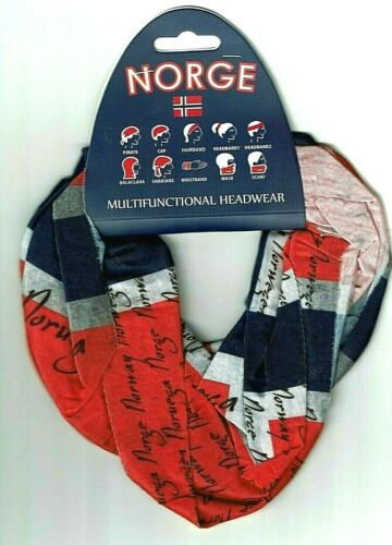Multipurpose Headwear Face Mask Norwegian Flag design by Flaaronning