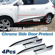 Silver & Black Side Door Protect Molding 4Pcs For HYUNDAI 2010-2015 Tucson ix35