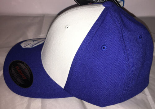 S NUOVO Flexifit Baseball Coperchi Flexfit Tinta Unita Royal Classico Aderente Cappelli XL L M
