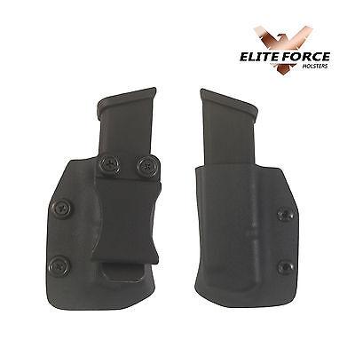 Single magazine holders for glock 43 Mags Kydex 2 Custom made MRD