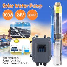 24v 3 Solar Deep Water Well Pump Ssteel Submersible Screw Controller Kits 300w