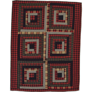 FARMHOUSE COUNTRY PRIMITIVE CUMBERLAND PATCHWORK QUILTED THROW 50X60 VHC BRANDS
