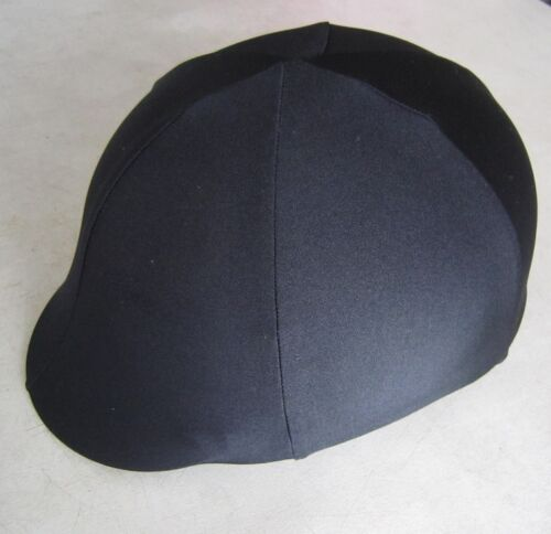 Any size you need Horse Helmet Cover ALL AUSTRALIAN MADE All black lycra