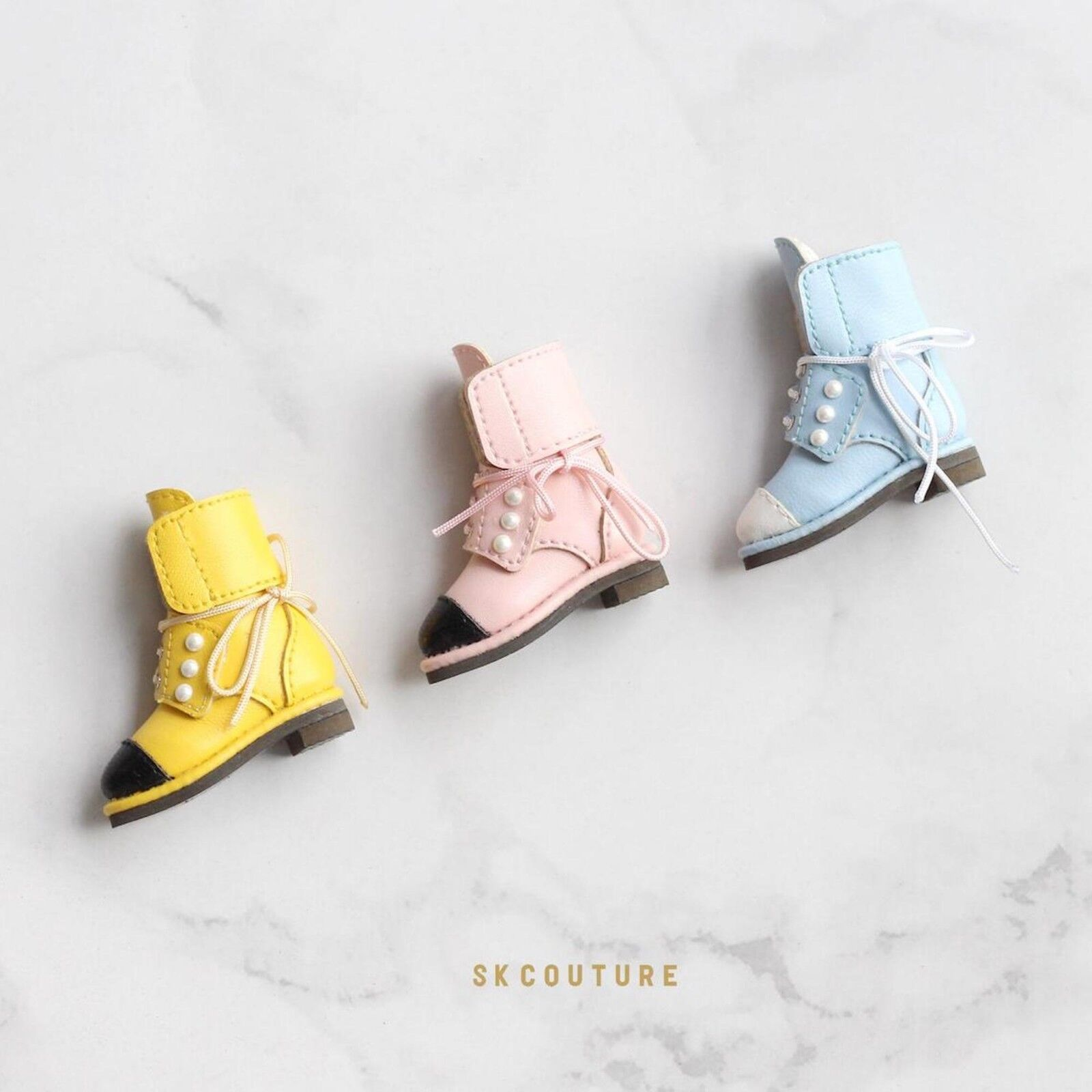 rosado SK Couture botas Para Blythe Pullip LICC Azone Momoko L4xH4.2x1.6 hecho a mano