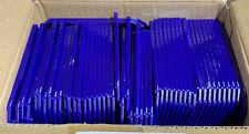 50 Ct Rigid Blue Plastic Badge Holder