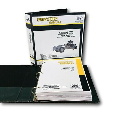 SERVICE OPERATIONS AND TESTING MANUAL FOR JOHN DEERE 772BH MOTOR ROAD GRADER