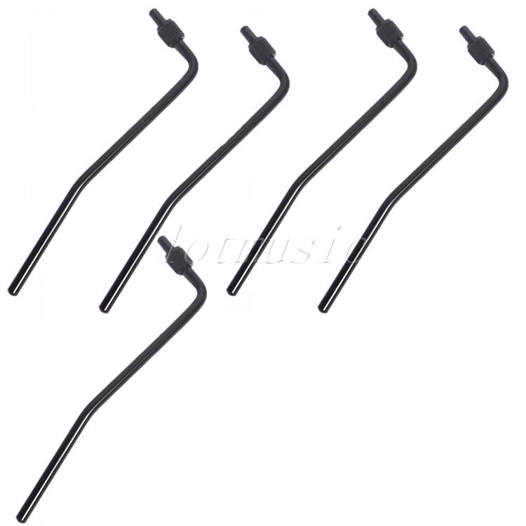 5pcs guitar tremolo whammy bar arm bridge replacement black 634458232432