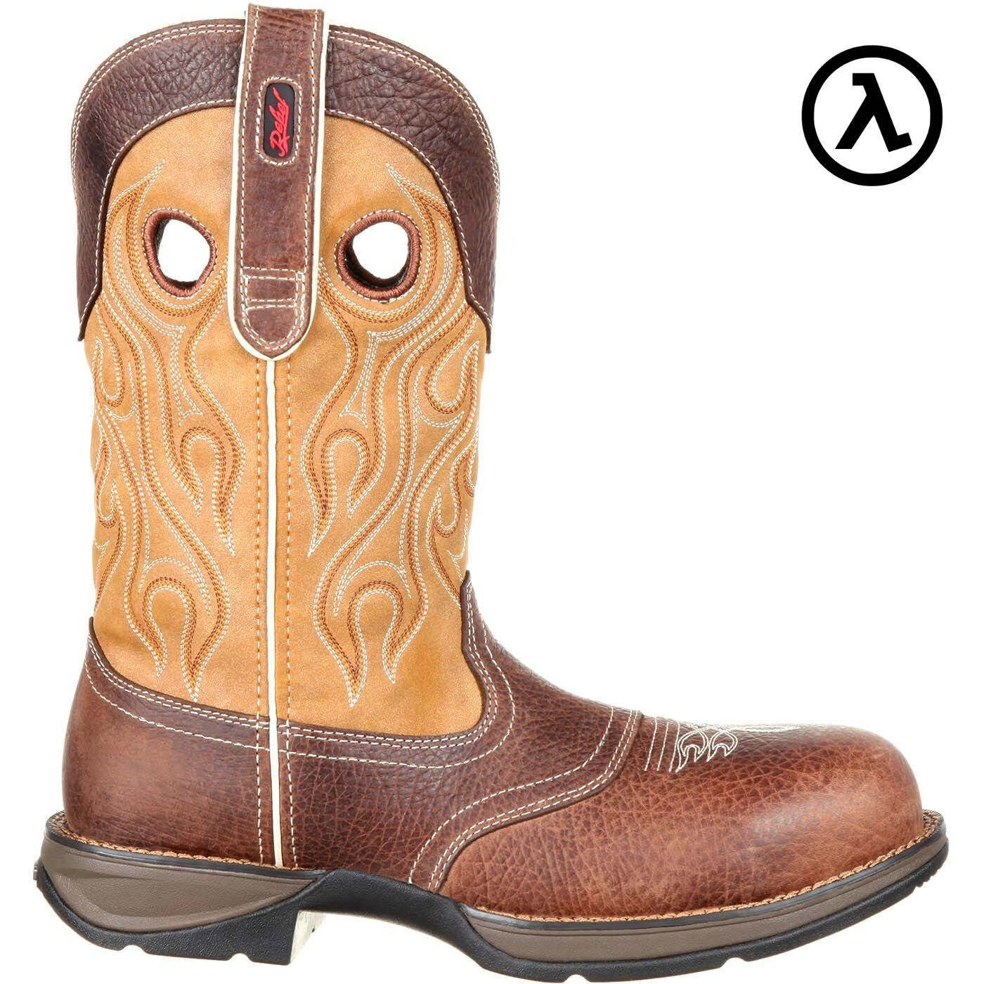 REBEL BY DURANGO COMPOSITE TOE WTRPF SADDLE WESTERN Stiefel DDB0123  SALE