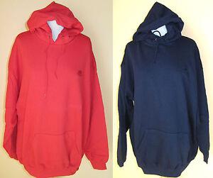Herren-Kapuzen-Sweatshirt-Sweat-Shirt-Fruit-of-the-Loom-rot-dunkelblau-Gr-XXL
