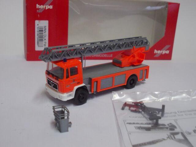 """Herpa H0 049887 NEU MAN M 90 Drehleiter 23//12 /""""Feuerwehr Wendelstein/"""" OVP"""