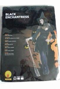 Rubies-Halloween-Costume-Witch-Black-Enchantress-Dress-Hat-Belt-Adult-S-8-10