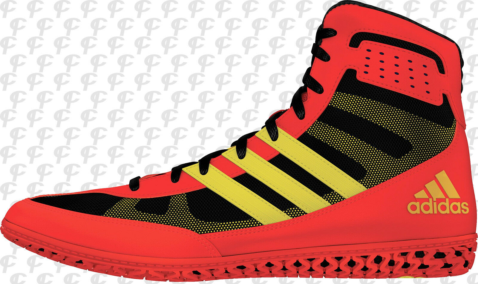 Adidas Mat Wizard Men's Wrestling shoes Red-Yellow-Black BB2859 NEW