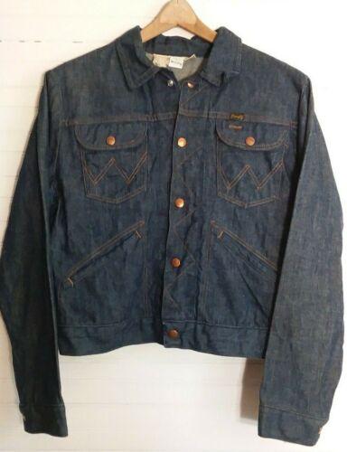 Vtg 70s Wrangler Denim Jacket Sanforized USA Made
