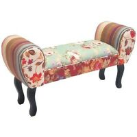 Shabby Chic Bench Seat Chaise Pouffe Stool Sofa Longue Hallway Living Room Bed