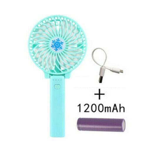 Mini Portable Fans Hand-held Desk Fan Cooler USB Rechargeable Air Conditioner US
