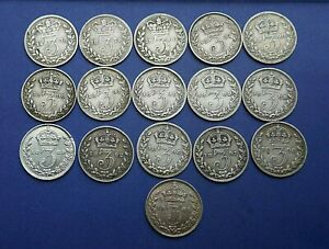 Victoria-Silver-Threepence-1837-1901-Choose-your-date-or-grade