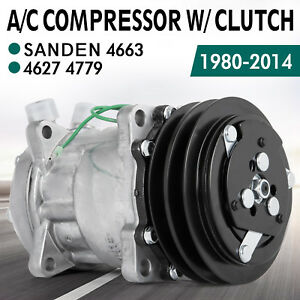 Details about AC Compressor for Sanden SD508 4664 4663 4627 CO2501 SD5H14  CO 4510C