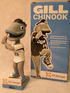 GILL-Lakeshore-Chinooks-Northwoods-League-Mascot-Birthday-Special-Bobblehead-NIB