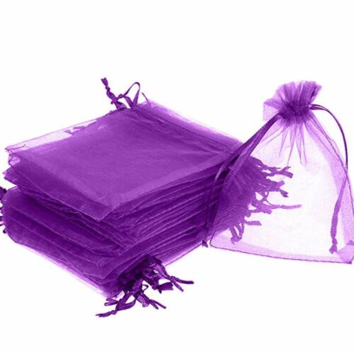 25//50//100pcs Organza Gift Bags Wedding Party Decor Favor Jewelry Candy Pouches