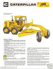 Equipment Brochure Caterpillar 14g Motor Road Grader 1981 Eb646