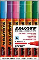 MOLOTOW ONE 4 ALL 227 - 6 PIECE DRAWING MARKER PEN SET - BASIC SET 2