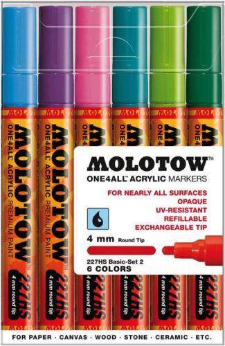 Molotow One 4 todos 227-6 piezas conjunto Bolígrafo Marcador De Dibujo-conjunto básico 2