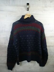 VTG-Bill-Cosby-Ralph-Lauren-Roll-Neck-50-Merino-Wolle-Sweater-Pullover-REFA-21-XXL