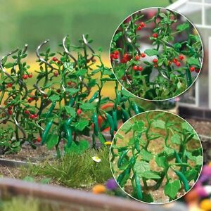 OO-HO-Gemuese-Garten-Szenerie-Gurken-amp-Tomaten-Pflanzen-Busch-1214-F1
