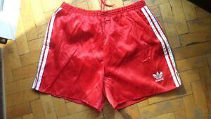 Details zu Nylon glänzend 80er Jahre Vintage Adidas SAMPDORIA RED Shorts für Frauen