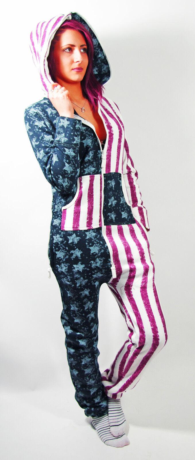 BRAVE NEW WORLD Jumpsuit  american flag Gr.38,40