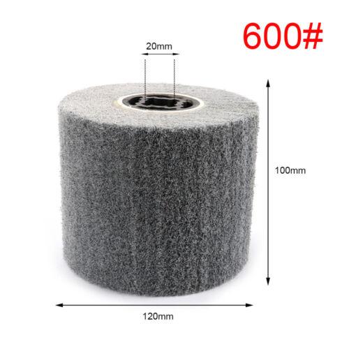 60~600 Grit Non-woven Abrasive Flap Wire Drawing Polishing Burnishing Wheel 1Pc