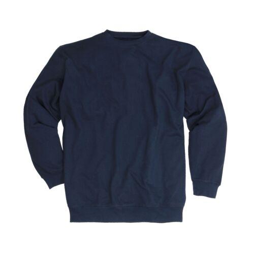 Sweatshirt Herren in Übergrößen 100/% Baumwolle Langarm Shirt Adamo 2XL bis 14XL