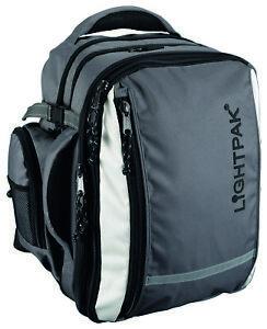 LIGHTPAK-Laptoprucksack-VANTAGE-Laptopfach-Notebook-Bordgepaeck-Nylon-grau-46077