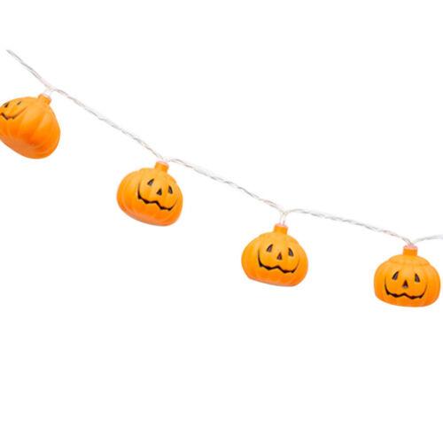 10//20 LED Pumpkin String Lights Halloween Party Decoration Lights Lantern Prop