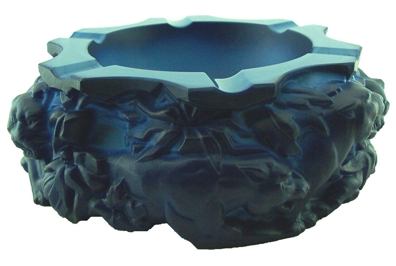 Aschenbecher in mattierten blauen Lithyalinglas, auch LapislBlaui-Glas - Ae 422